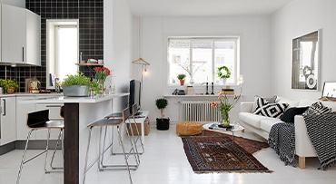 Defining different living spaces
